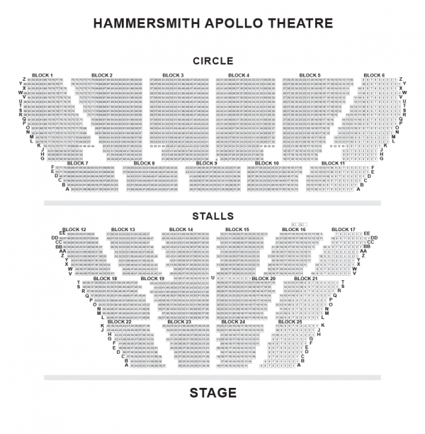 Hammersmith Apollo seating-plan
