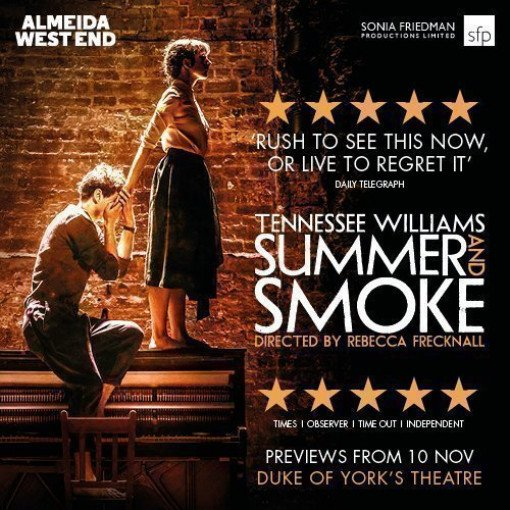 SUMMER AND SMOKE Transfers to the Duke of York's Theatre
