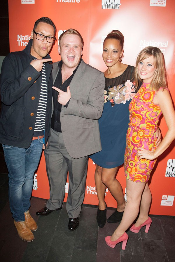 Gok Wan, Owain Arthur, Angela Griffin and Kellie Shirley at the post show party, photo by Dan Wooller