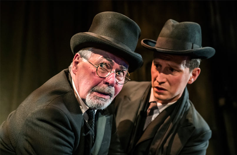 The Woman in Black - Terence Wilton 'Arthur Kipps' and Max Hutchinson 'The Actor'. Photo Tristram Kenton