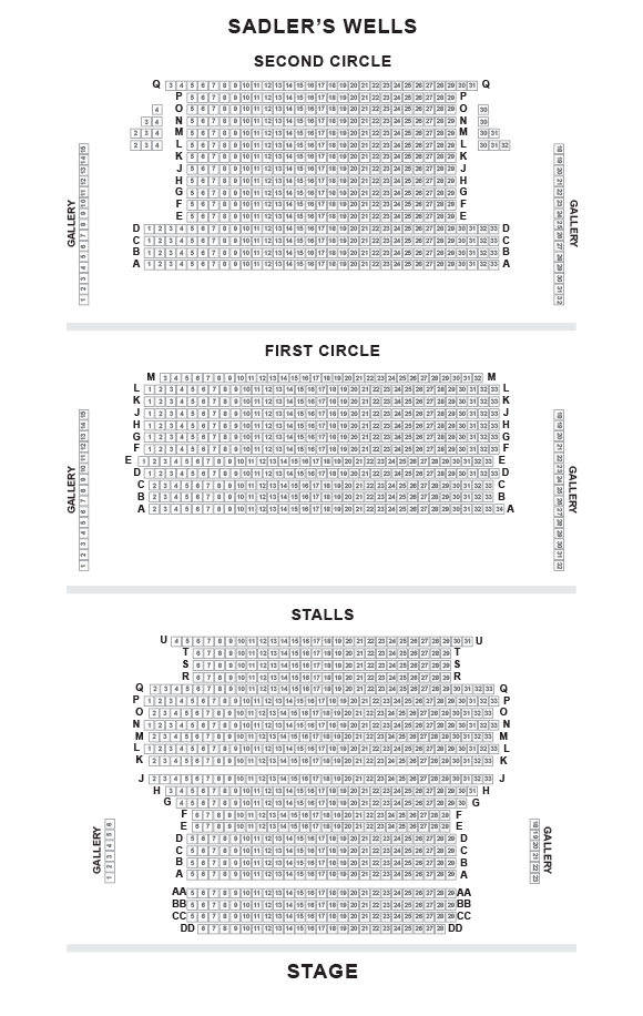 Sadlers Wells Seating Plan